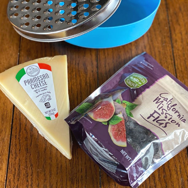 California Mission Figs and Emporium Selection Parmesan from ALDI