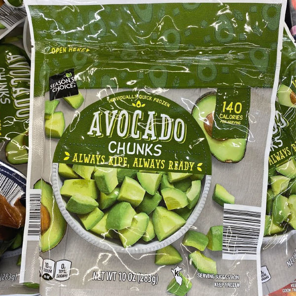 Season's Choice frozen avocado chunks at ALDI