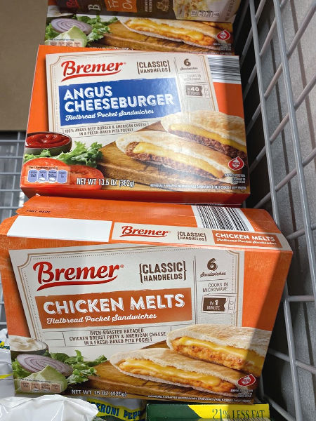Bremer flatbread cheeseburger sandwiches and chicken melts at ALDI