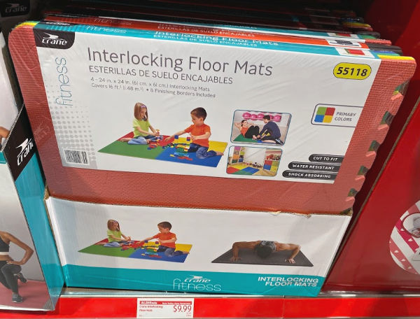interlocking floor mats at aldi for home gyms or kids