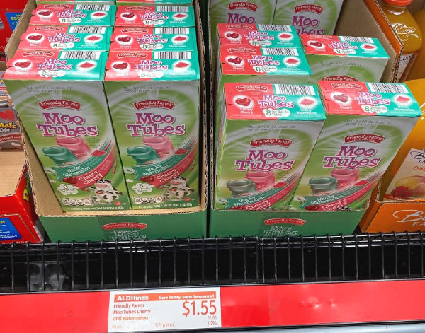 Moo Tubes at ALDI
