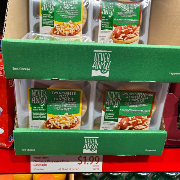 Never Any pizza lunch kits at ALDI