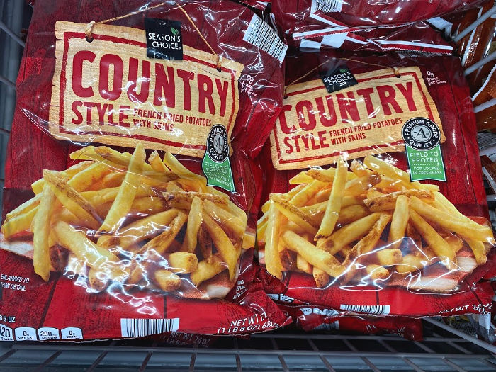 Season's Choice country style french fries at ALDI