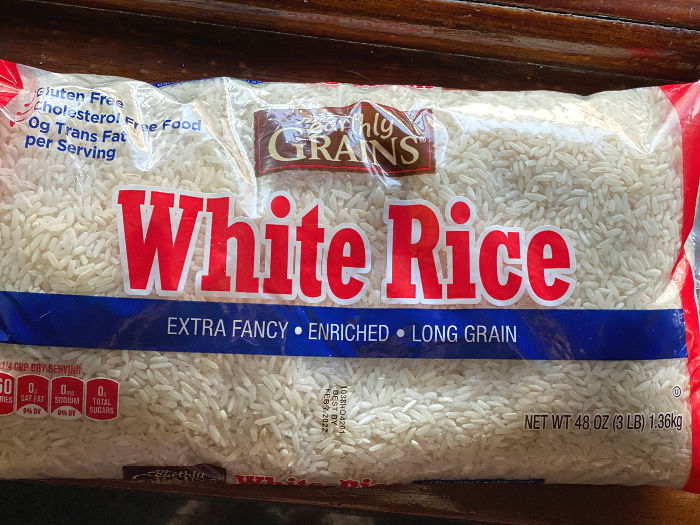 Earthly Grains white rice from ALDI