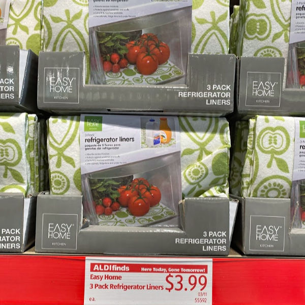 Easy home refrigerator liners at ALDI