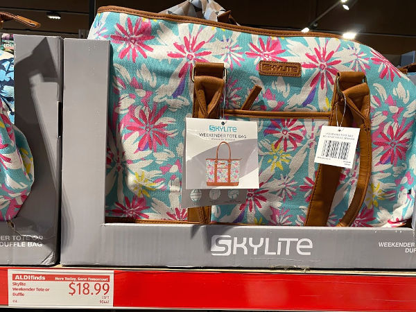 Skylite weekender travel totes and duffel bags at aldi