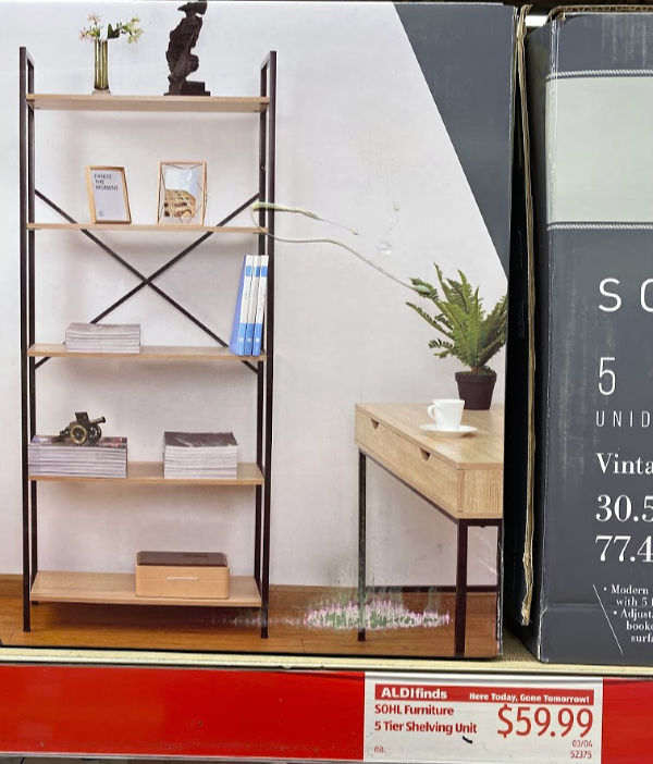 SOHL five tier shelving unit on the shelf at ALDI