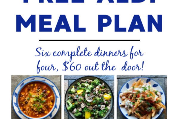 Mashup Mom ALDI Meal Plan week of 4/19/20