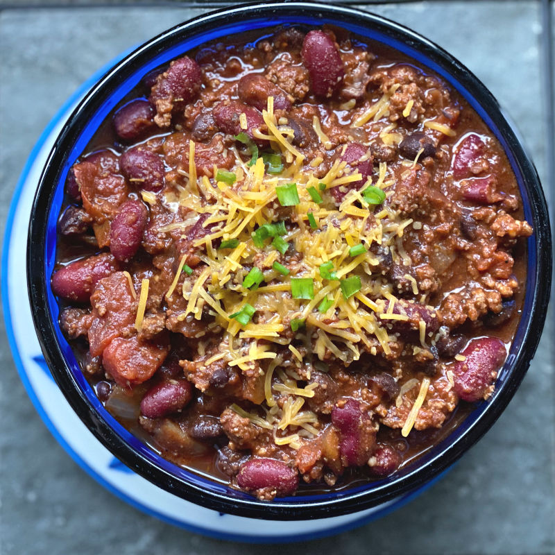 bowl of chili in this week's free ALDI meal plan