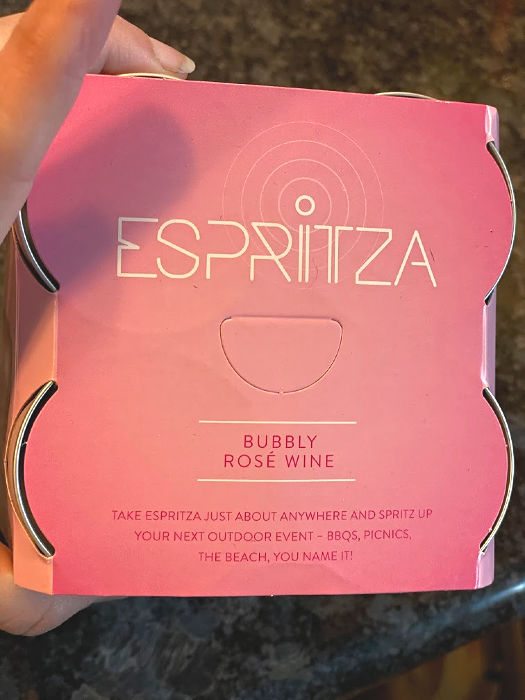 Espritza four pack Bubbly Rose wine