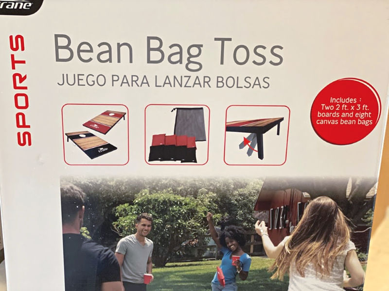 Crane Bean Bag Toss includes boards and bean bags