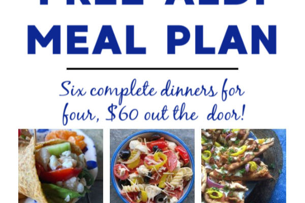 Free ALDI meal plan week of 6/7/20