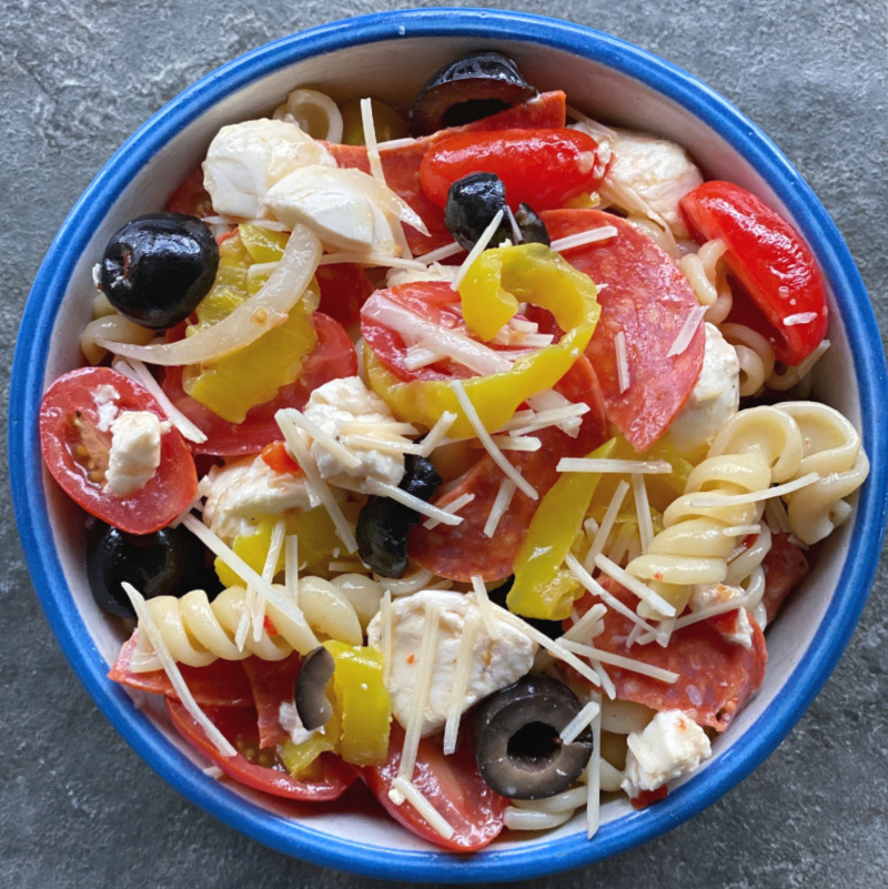 pepperoni pizza pasta salad in this week's meal plan