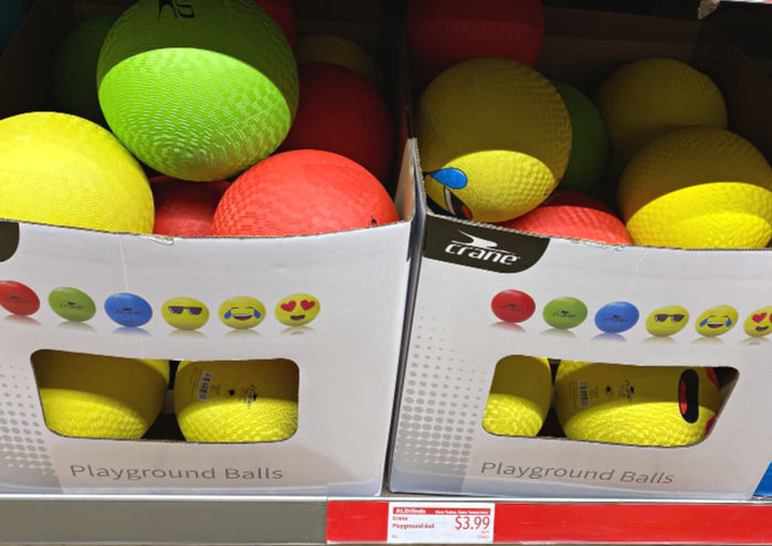 Crane playground balls at ALDI
