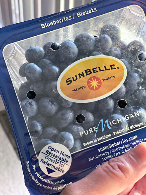 Resealable blueberries at ALDI