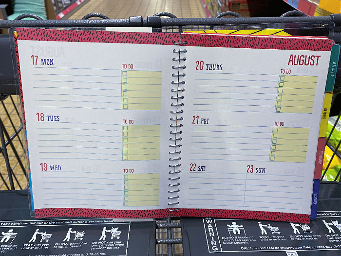 daily space to write in planner