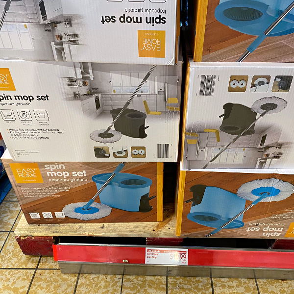 spin mop at ALDI
