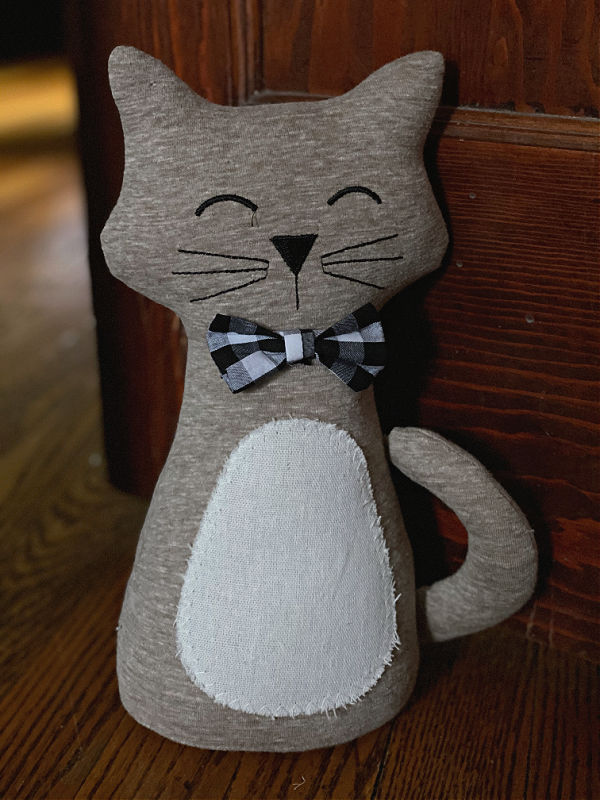 cat doorstop from aldi
