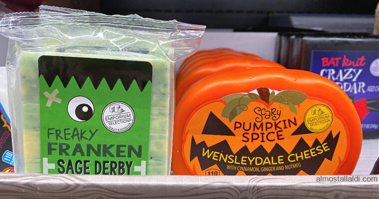 ALDI Halloween Cheese and Day of the Dead Succulents in this week's Finds
