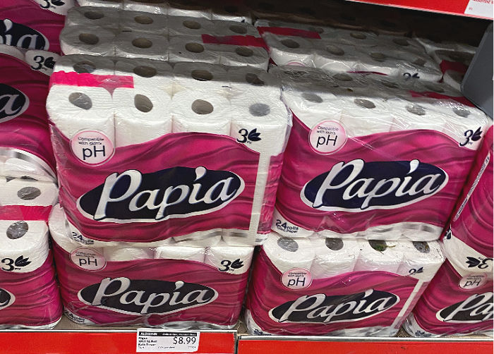 papia toilet paper at aldi