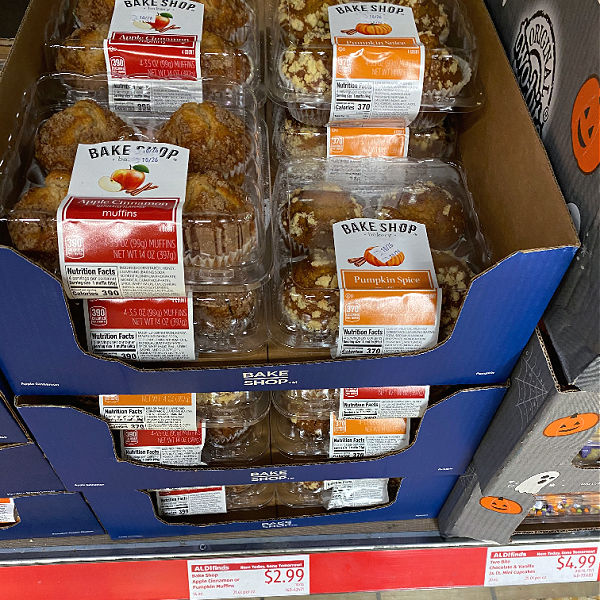 bake shop fall flavored muffins at aldi
