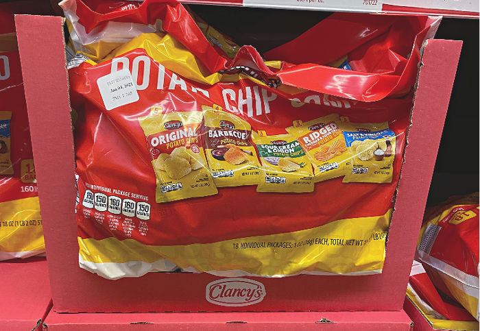 Clancy's potato chip combo pack at aldi