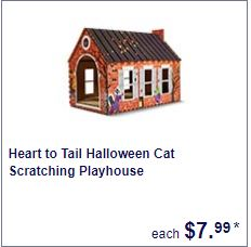 halloween cat scratching play house at aldi