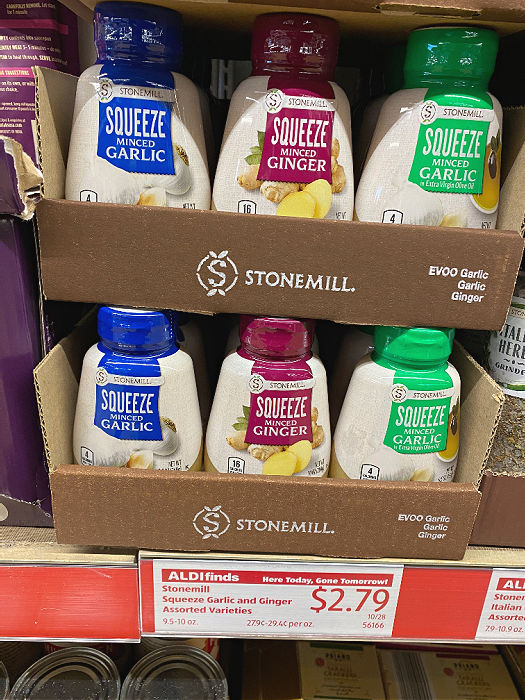 stonemill squeeze minced garlic and ginger at aldi