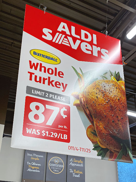 Butterball turkey, canned pumpkin, stollen, NINJABREAD, and more ALDI Finds