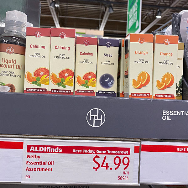 essential oils at aldi