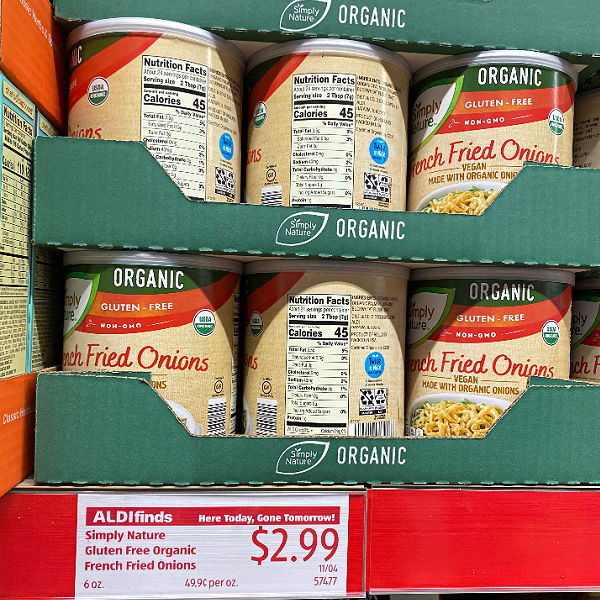 gluten free French fried onions at aldi