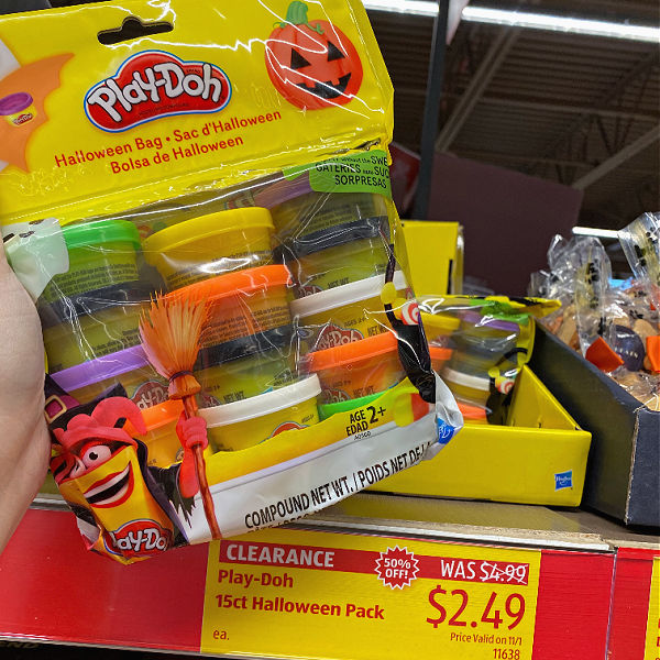 Halloween play-doh at ALDI on clearance