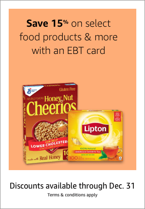 15% off Amazon groceries with EBT