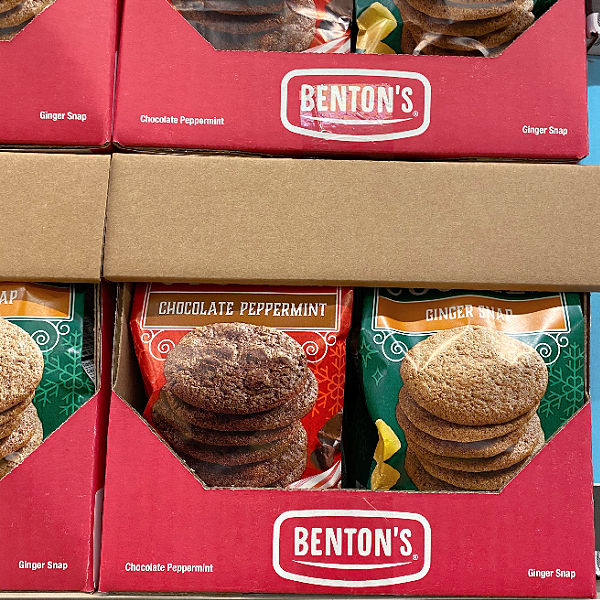 bentons ginger snaps and chocolate peppermint cookies