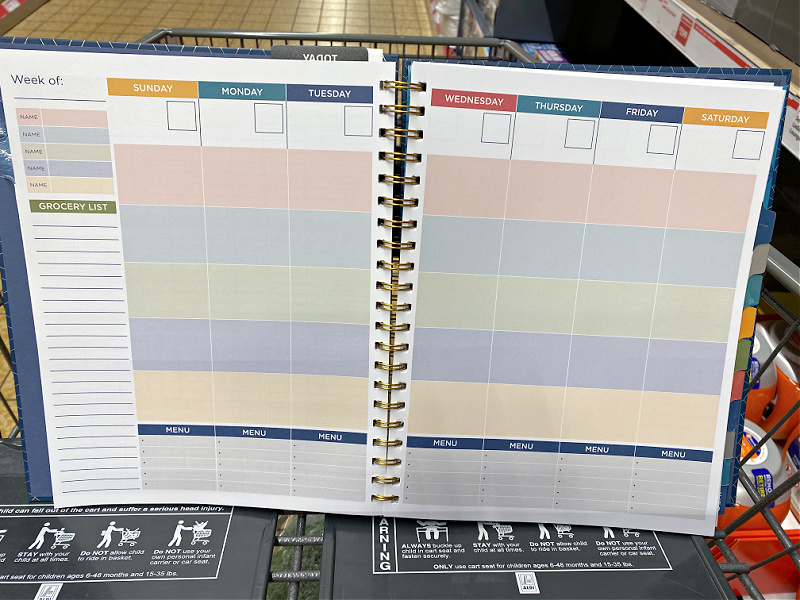 meal planning pages in pembrook specialty planners