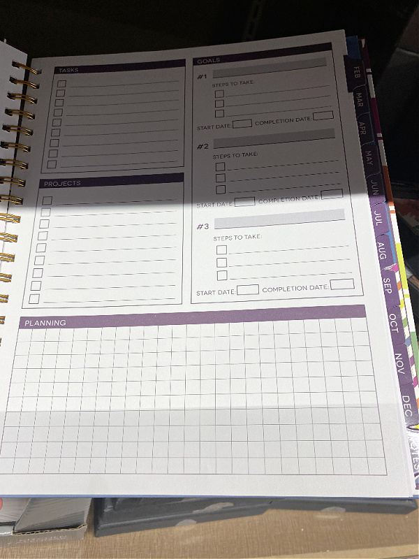 goal setting pages in aldi planners