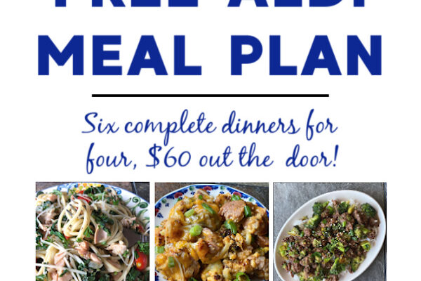 Mashup Mom ALDI Meal Plan week of 3/28/21