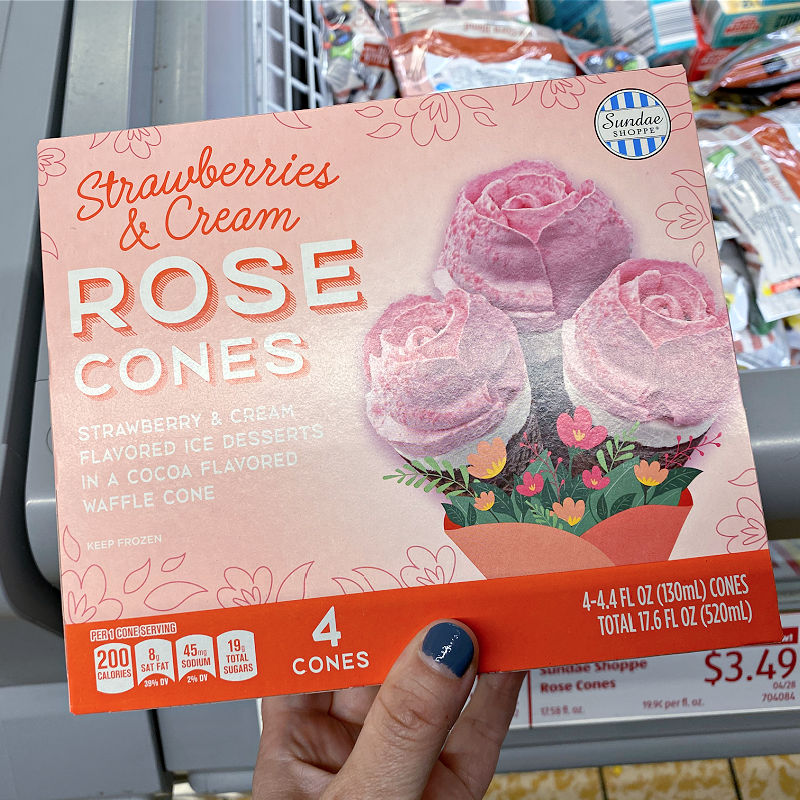 rose cones at ALDI