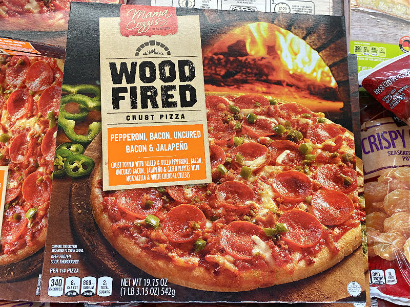 wood fired pepperoni pizza at aldi