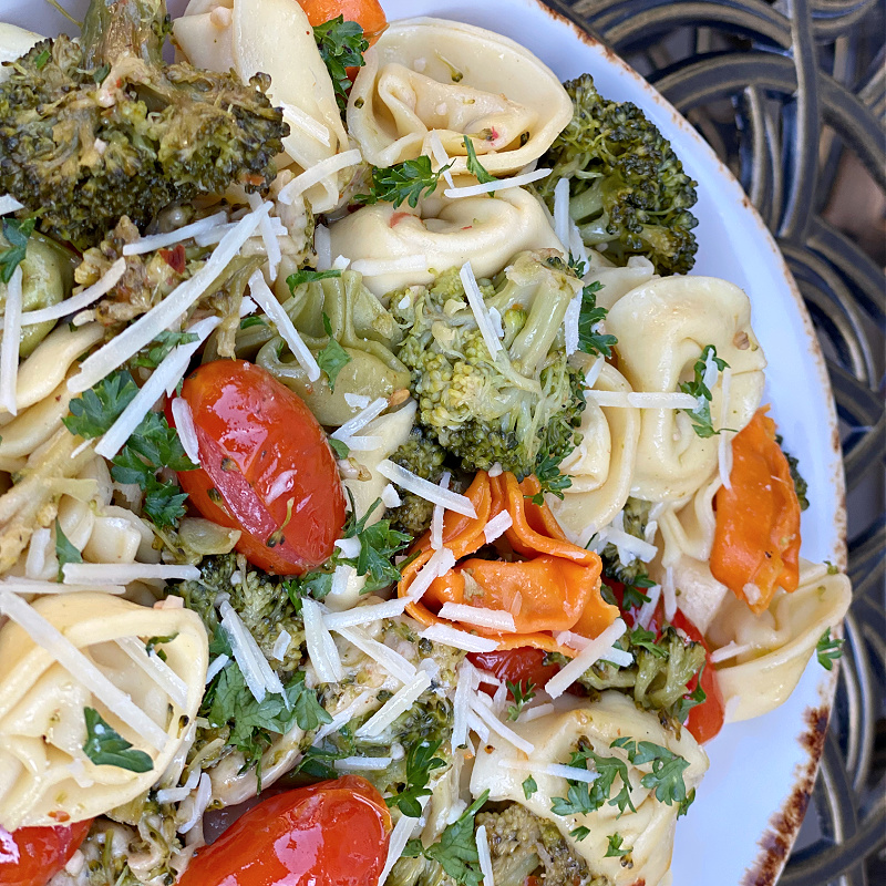 tortellini with broccoli in this week's ALDI meal plan