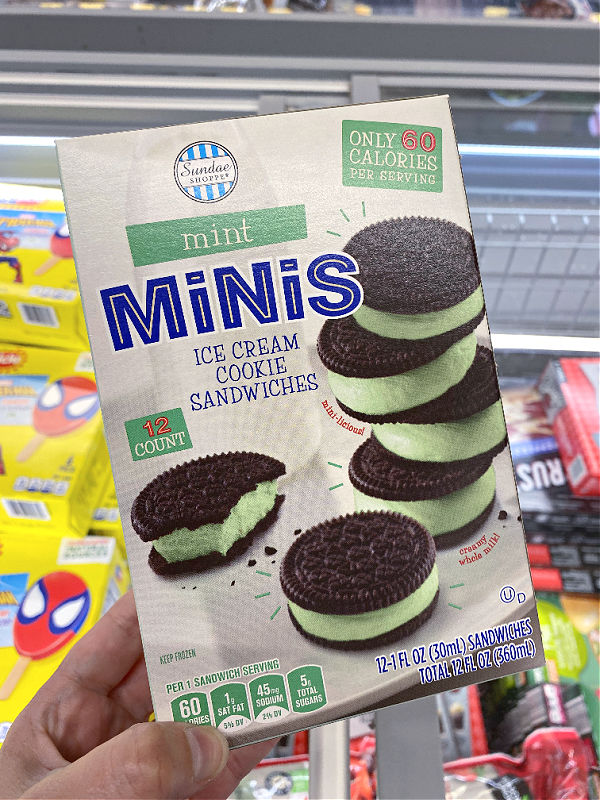 mint minis ice cream sandwiches in this week's ALDI Finds